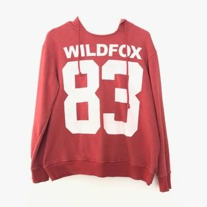 Wildfox Medium Pullover Hooded Sweater Red